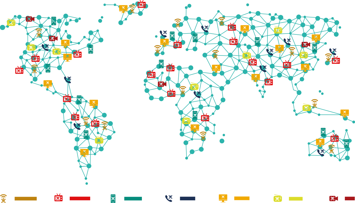 mapa de fraude online y piratería