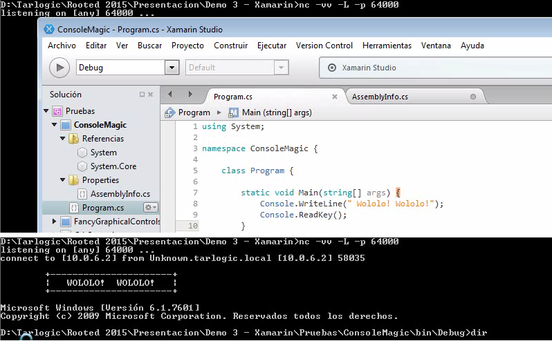Demo 3 - Backdoors en proyecto Xamarin