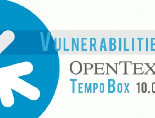 OpenText TempoBox 10.0.3 Vulnerabilities