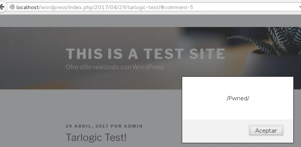JavaScript ejecutado