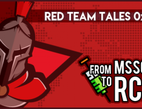 Red Team Tales 0x01: From MSSQL to RCE