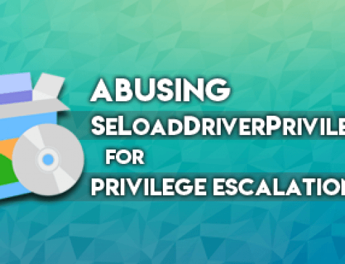 Abusing SeLoadDriverPrivilege for privilege escalation