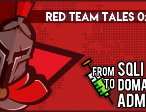 Red Team Tales 0x02: from SQLi to Domain Admin
