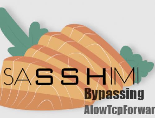 SaSSHimi: evading AllowTcpForwarding