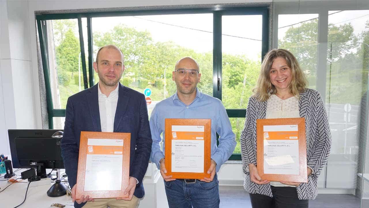 La entrega de la certificación ISO 27001 se hizo en la sede de Tarlogic