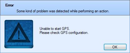 Acrylic GPS configuration error