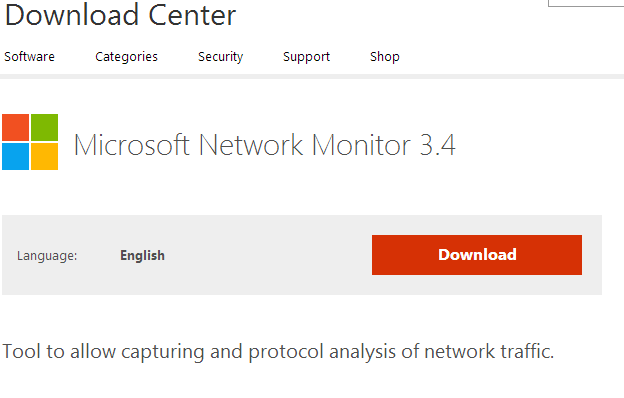 Download Microsoft Network Monitor 3.4